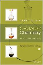 4DAYS DELIVERY- Organic Chemistry As a Second Language, 4th Ed. by Klein - NEW