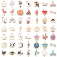 Assorted Alloy Enamel Charms Pendants DIY For Necklace Bracelet Crafting