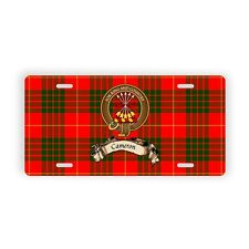 Scottish Clan Cameron Novelty Auto Plate Tag Family Name License Plate
