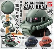 BANDAI GASHAPON GUNDAM EXCEED MODEL ZAKU HEAD SET OF 3