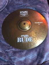 "2002 Paiste Rude 18""Inch Crash Ride Cymbal Cymbals Great Shape !!"