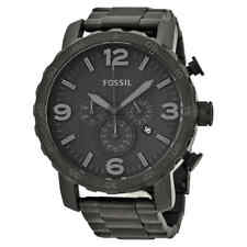 Fossil Nate Chronograph Black Dial Black Ion-plated Men's Watch JR1401