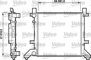 Valeo Radiator 731605 fits Volkswagen LT 28-46 2.5 TDI (2D) 60kw, 2.5 TDI (2D...