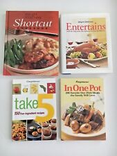 LOT of 4 Weight Watchers Cookbooks-Entertains, Shortcuts, Take 5, In One Pot