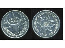 MADAGASCAR   1  franc  1993  ANM     ( bis )