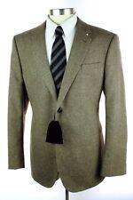 NWT ARMANI Black Label Italy Taylor Tan Wool Hemp 2Btn Jacket Coat 56 46 R $2695