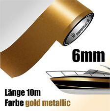 ZIERSTREIFEN 10m GOLD METALLIC 6mm Auto Boot Jetski Modellbau Vinyl