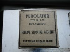 GMC CCKW 352 353 ETC PUROLATOR MILITARY OIL FILTER SENIOR N.O.S