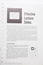 Kodak 1969 S-22 Effective Lecture Slides Info Guide- English USED B20
