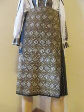Antique handmade Romanian costumes skirt, ethnic Romanian wrap skirt gold tinsel