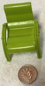 Vtg Louis Marx Dollhouse ARM CHAIR Patio Furniture RETRO Green pool porch EUC!!