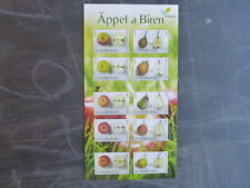 2015 LUXEMBOURG FRUIT VARIETIES BOOKLET OF 10 MINT STAMPS
