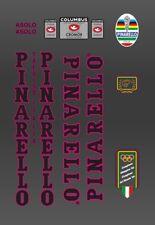 PINARELLO MONTELLO FRAME DECAL SET WHITE//BLACK CONTOUR WITH COLUMBUS SL