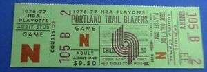 PORTLAND TRAILBLAZERS 1976-7 Championship Playoff original unused vintage ticket