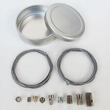 Bowdenzug-Nippel Reparatursatz Pannenset 12-teilig Universal incl. Blechdose