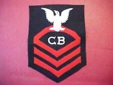 ORIGINAL WWII USN CB CHIEF RATING PATCH 1943 DATED