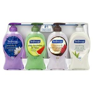 Softsoap Liquid Hand Soap Variety Pack, Ginger, Cucumber, Aloe, Lavender, 4 pk./