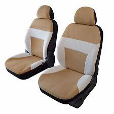 Housse sièges auto avant universelle imitation peau de mouton coloris beige