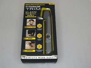 Microtouch Titanium Trim~At Home Haircut and Body Groomer~Cordless~Open Box
