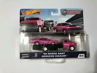 HOT WHEELS CAR CULTURE TEAM TRANSPORT-'68 DODGE DART HORIZON HAULER - Pink