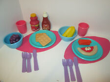 Vintage Little Tikes Pretend Play Food Dishes Kitchen Accessories Placemat