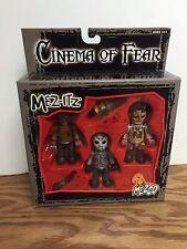 Cinema of Fear Triple Action Figure Set ~ Freddy Krueger Voorhees Texas Chainsaw