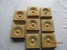 New 8 Wooden Trim Rosettes Medallions Woodworking