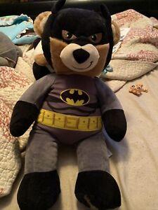 Build A Bear Talking Plush Batman Bear 18 Inches - BAB