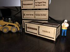 1/50 Liebherr Wooden Crate For Cranes And Trucks