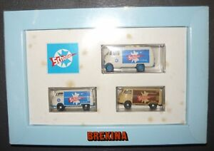 Brekina 102, Schöller Lieferwagen-Set 2 VW + 1 MB, 1/87,  NEU & in OVP