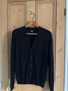Paul Smith Men's Black Cardigan. Small. 100% Merino Wool.