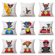 "Naughty Dog's Life 18""x45cm Decor Cotton Linen Cushion cover Pillowcase"