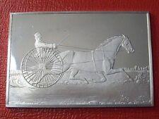 "Currier & Ives "" Trotting Stallion Ingot "" 2.75 oz .999 Silver by Franklin Mint"