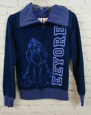 Disney Winnie The Pooh Eeyore Women Violet Full Zip Jacket Junior Size S