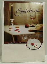 """70"""" inch Ivory Table Cover Cloth Microfiber Stain Wrinkle Resistant Soft NEW"""