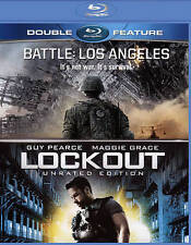 BATTLE LOS ANGELES + LOCKOUT new blu-ray DOUBLE FEATURE