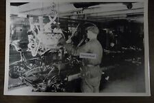 "1934 Ford assembly line, engine to frame 12X18"" Black & White Picture"