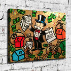 """32x24"""" Alec Monopoly """"Deed Bonds Mortgage"""" HD print on canvas rolled up print"""