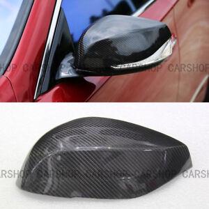 For INFINITI Q50 Q50S Q60 Q70 QX30 14+ Real Carbon Fiber Side Mirror Cover Cap