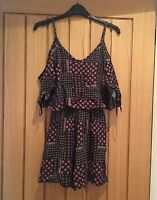 Primark Off Shoulder Floral Patterned Playsuit, Size 6, New with Tags