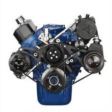 Black Ford 289-302-351W Serpentine Conversion Kit - Alternator, Power Steering &