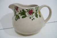 Rare Antique Signed Beige Floral Coffee Creamer Made In England