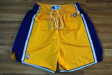 LA LAKERS SHORTS CHAMPION NBA BASKETBALL SIZE MENS LARGE VINTAGE YELLOW RARE