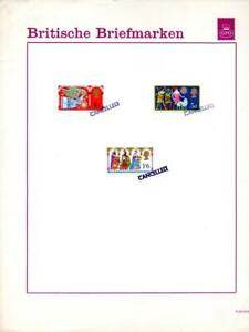 1969 CHRISTMAS SET HANDSTAMPED 'CANCELLED' ON GPO GERMAN PUBLICITY CARD