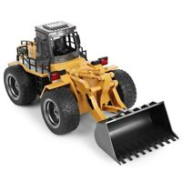 1:18 2.4GHz 6CH RC Alloy Truck Remote Control Construction Vehicle Toy Bulldozer