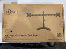 """Wali Articulating Dual Monitor Desk Stand 13"""" to 27"""""""