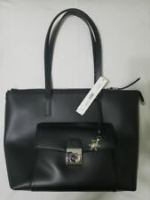 NWT CARPISA Leather Collection Tote Black BP411001S16