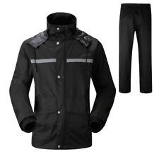 Adults Waterproof Suit Jacket & Trousers Windproof Raincoat Set Womens Mens