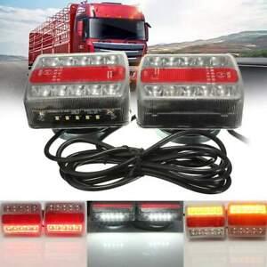 12V LED Trailer Tail Light Magnetic Trailer Towing Lightboard Light Rear 7.5m