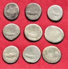 Lot of 9 Ancient Roman Silver  Republican Denarius #1